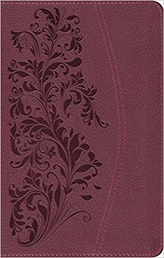 ESV, Large Print Compact Bible, trutone,ruby,bloom design